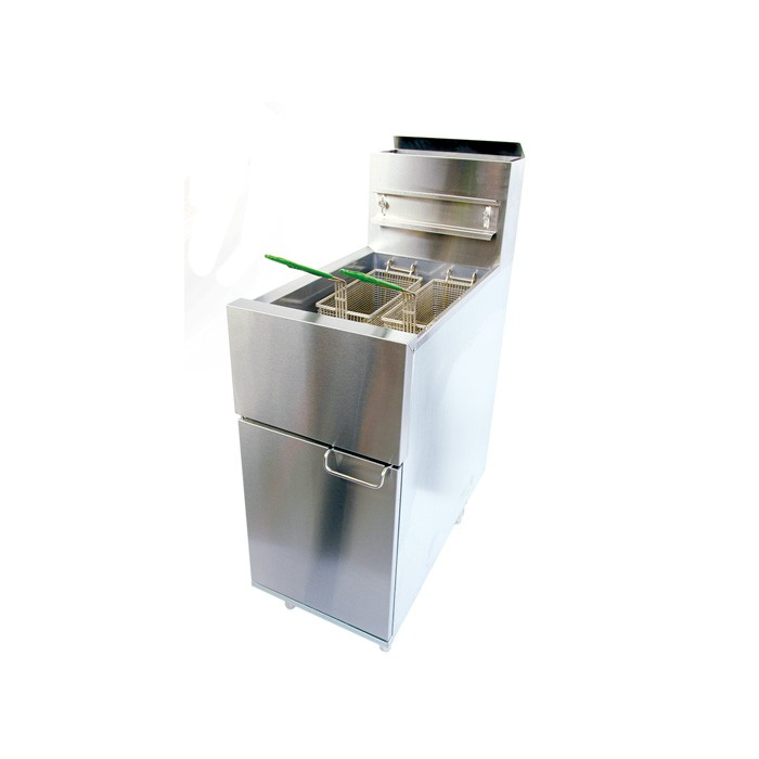 Three-tube type gas fryer high efficient